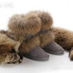 G&C fox fur on sheep's skin boots